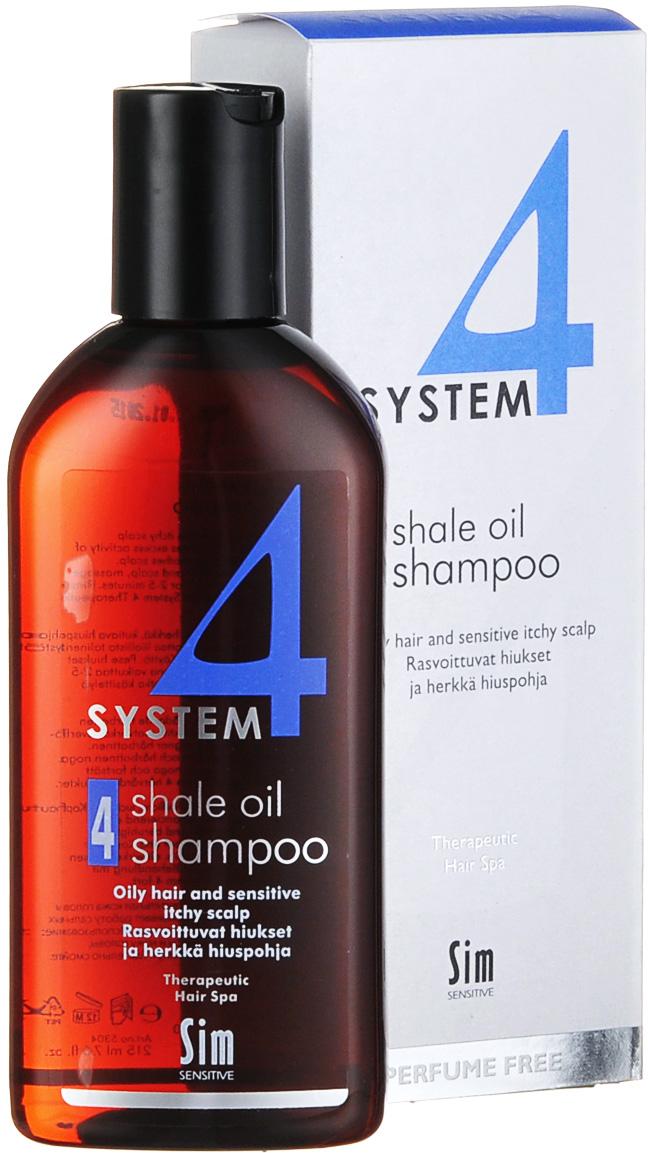 SIM SENSITIVE Терапевтический шампунь № 4 SYSTEM 4 Shale Oil Shampoo 4 , 215 мл5304КАК РАБОТАЕТ: салициловая кислота активно очищают кожу головы, сланцевое масло регулирует активность сальных желез. Розмарин и ментол освежают и дезинфицируют кожу головы. Пироктон оламин и климбазол устраняют грибок и восстанавливают микрофлору кожи головы. Входящие в состав амфотерные ПАВы, обладают мягкими моющими свойствами. БОРЕТСЯ С: чрезмерной жирностью волос и кожи головы зудом кожи головы жирной перхотью