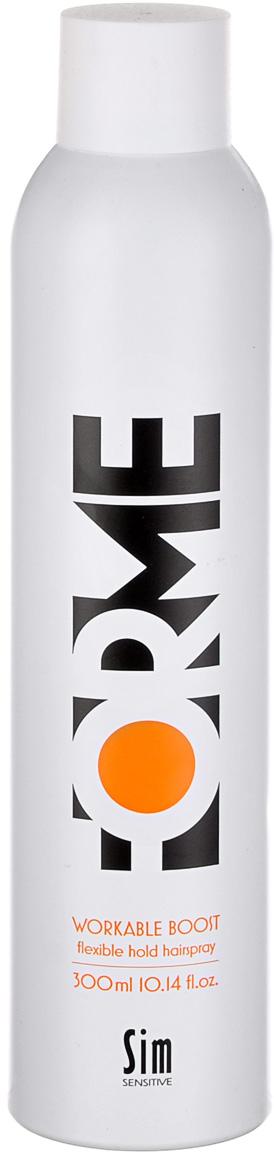 SIM SENSITIVE Лак средней фиксации для укладки волос серии Forme FORME Workable Boost Flexible Hold Hair Spray, 300мл alterna лак для волос подвижной фиксации caviar anti aging working hair spray 250ml