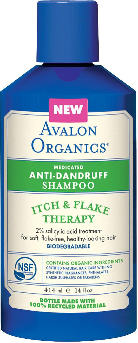 Avalon Organics Шампунь против перхоти , 400мл5411Шампунь против перхоти, шелушений и раздражения. Поддерживает чистоту, шелковистость и здоровый блеск проблемных волос. Контролирует работу сальных желез, устраняет кожный зуд. Содержит натуральные успокаивающие экстракты алоэ вера, чайного дерева и ромашки.