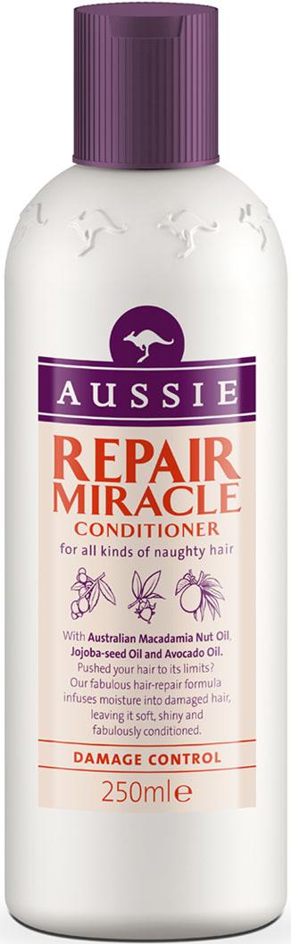 Aussie Бальзам-ополаскиватель Aussie Repair Miracle, для поврежденных волос, 250 мл aussie бальзам ополаскиватель mega instant для ежедневного использования 250 мл