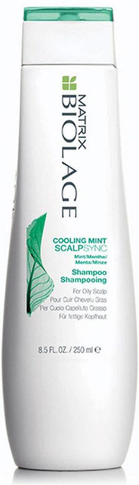 Matrix Biolage Scalpsyncшампунь освежающий 250 млE0957400Вдохновлённый антисептическими и успокаивающими свойствами перечной мяты, освежающий мятный шампунь Biolage SCALPSYNC™(Скалпсинк) удаляет излишки себума с кожи головы, охлаждает и придаёт ощущение свежести и чистоты. Содержит экстракт перечной мяты и ментол. Глубоко очищает волосы, придавая им ощущение свежести.