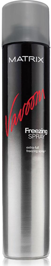 Matrix Vavoom Лак-спрей Экстра-сильной фиксации 500млOTM.23Лак-спрей Extra Full Freezing Spray (Экстра-Фулл Фризинг Спрей) позволяет надолго зафиксировать укладку. Моментально высыхает на волосах, не оставляет налёта.