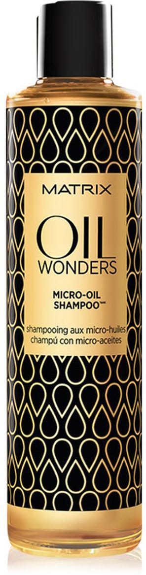 Matrix Oil Wonders Шампунь 300 млP0959600Легкий шампунь Oil Wonders (Ойл Вандерс) с микро-каплями Марокканского арганового масла. Нежно очищает и питает волосы, одновременно делая их мягкими и блестящими. Благодаря уникальной технологии шампуня молекула масла представлена в мелкодисперсной форме и равно распределена в составе формулы шампуня. - Невесомая текстура шампуня позволяет питает волосы совершенно без утяжеления. - Подходит для всех типов волос.