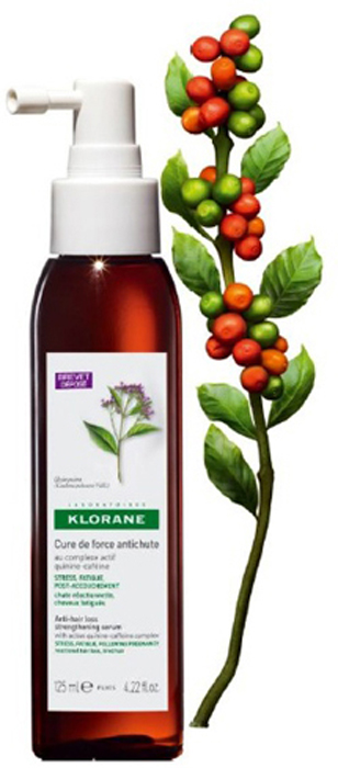 Klorane Концентрат Thinning Hair укрепляющий от выпадения волос с комплексом Хинина и Кофеина 125 млC33769Комплекс Хинина и Кофеина,(запатентованная формула), который стимулирует естественный рост волос и восстанавливает их жизненную силу. От корней до кончиков. Доказанная эффективность: стимулирование роста волос +30%Решает проблемы, связанные с реакционным выпадением волос, а также укрепляет уставшие ослабленные волосы. Настоящий источник энергии для волос, восстанавливающий их жизненную силу - от корней до кончиков.Как работает - Активирует микроциркуляцию в коже головы - Стимулирует процесс клеточного деления - Защищает волосяную луковицу от воздействия свободных радикалов - Оказывает укрепляющее действие на структуру кератинаНОВШЕСТВО: воздействует непосредственно в центр волосяного фолликула, стимулируя активность 3 основных генов, принимающих активное участие в борьбе с реакционным выпадением волосСпустя 6 недель применения: - процесс выпадение волос замедляется - стимулирование естественного роста волос - объем волос увеличивается - волосы становятся более сильными и прочными - волосы мягкие, приобретают тонус, легко укладываются Стимулирует естественный рост волос и восстанавливает их жизненную силу