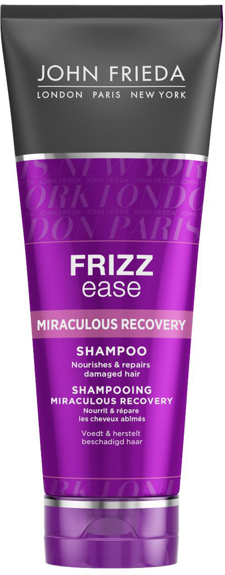 John Frieda Шампунь для укрепления волос Miraculous recovery, 250 млjf111110Питает и восстанавливает поврежденные волосы. Питает и ощутимо восстанавливает структуру ломких, поврежденных и пересушенных вьющихся волос. Восстанавливающий аминокомплекс в составе шампуня Miraculous Recovery вернет вашим волосам упругость и ухоженный вид. Применение: Нанесите на влажные волосы, вспеньте и тщательно смойте. Для наилучшего результата используйте вместе с кондиционером для интенсивного укрепления непослушных волос Miraculous Recovery.