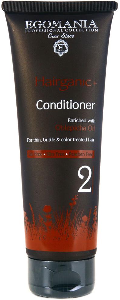 Egomania Professional Collection Кондиционер Hairganic+ с маслом облепихи для тонких, ломких и окрашенных волос 250 мл egomania кондиционер на пике красоты для тонких после химической завивки волос 250 мл