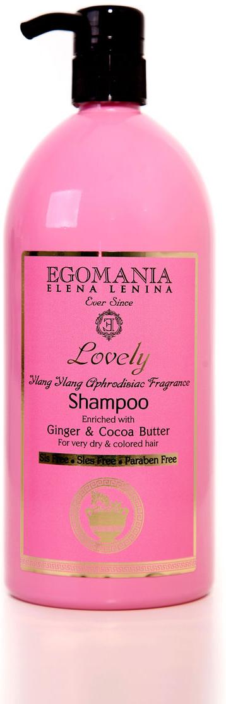 """Egomania Professional Collection Шампунь """"Lovely"""" с имбирем и маслом какао для пересушенных и окрашенных волос 1000 мл"""