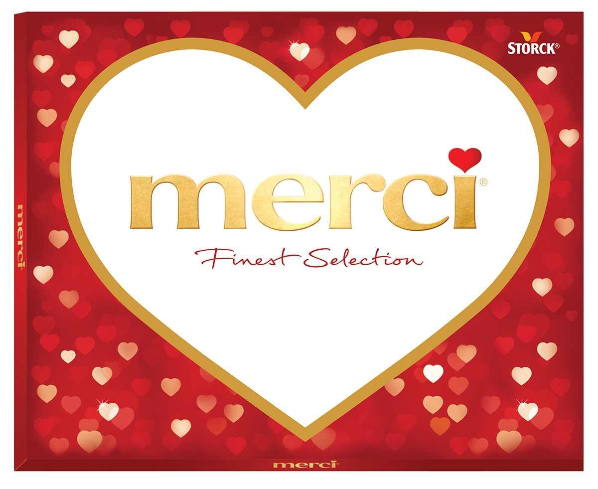 Merci Сердца конфеты ассорти красное, 250 г merci crocant конфеты 125 г
