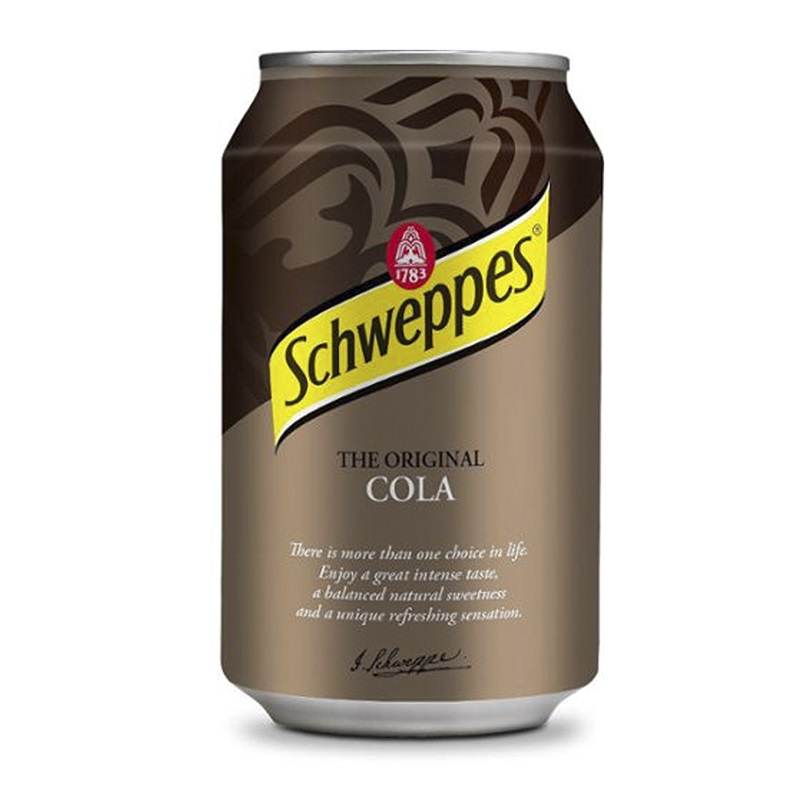 Schweppes Cola напиток сильногазированный, 330 мл schweppes bitter lemon напиток газированный 0 2 л
