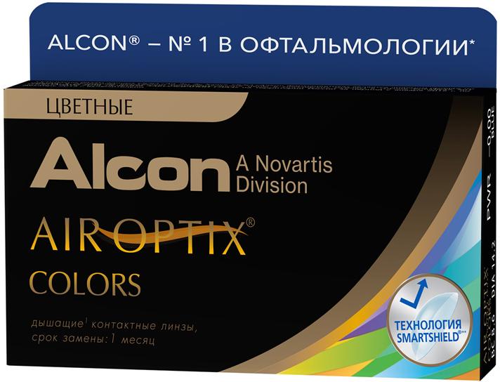 Аlcon контактные линзы Air Optix Colors 2 шт -3.50 BlueФМ000002499Мягкие контактные линзыКонтактные линзы или очки: советы офтальмологов. Статья OZON Гид