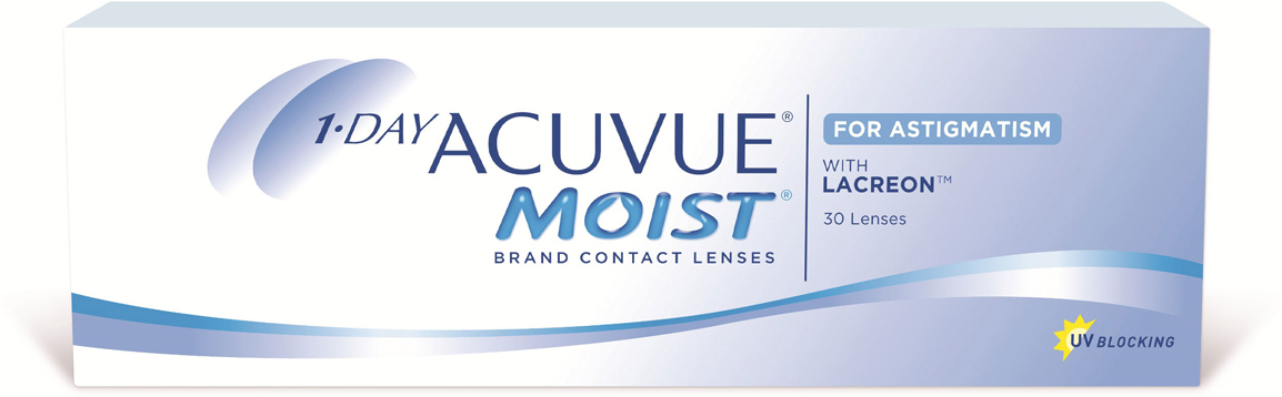 Johnson & Johnson контактные линзы 1-Day Acuvue Moist for Astigmatism/-1.25/-1.75/170100015710with Hydraclear