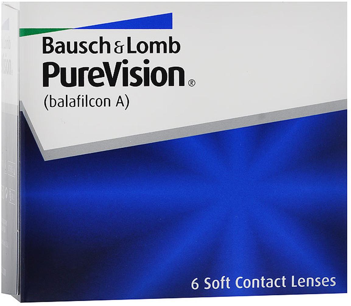 Bausch + Lomb контактные линзы PureVision (6шт / 8.3 / -1.50)39508Контактные линзы PureVision - это революционная разработка компании Bausch + Lomb! Использование новейших технологий дает возможность носить эту модель на протяжении месяца, не снимая. Ваши глаза не будут подвержены раздражению благодаря очень высокой кислородопроницаемости линз и особой конструкции линзы. Вам больше не придется надевать контактные линзы каждое утро, а вечером снимать их. Стоит лишь раз надеть линзы и заменить их новой парой через 30 дней.Технология AerGel используемая в PureVision, обеспечивает естественный уровень поступления кислорода к роговице глаза. Это достигается за счет соединения силикона и уникального гидрогеля. Технология обработки поверхности Performa делает контактные линзы постоянно увлажненными, повышает устойчивость к отложениями делает зрение пациента максимально острым. Революционная конструкция линз PureVision позволяет улучшить подвижность, делает линзы очень тонкими и гладкими. Контактные линзы имеют подкраску для простоты использования. Внимание! - плюсовые диоптрии производятся только в радиусе кривизны 8.3. Характеристики:Материал: белафилкон A. Кривизна: 8.3. Оптическая сила: - 1.50. Содержание воды: 36%. Диаметр: 14,0 мм. Количество линз: 6 шт. Размер упаковки: 7,5 см х 7 см х 4 см. Производитель: США. Товар сертифицирован.Контактные линзы или очки: советы офтальмологов. Статья OZON Гид