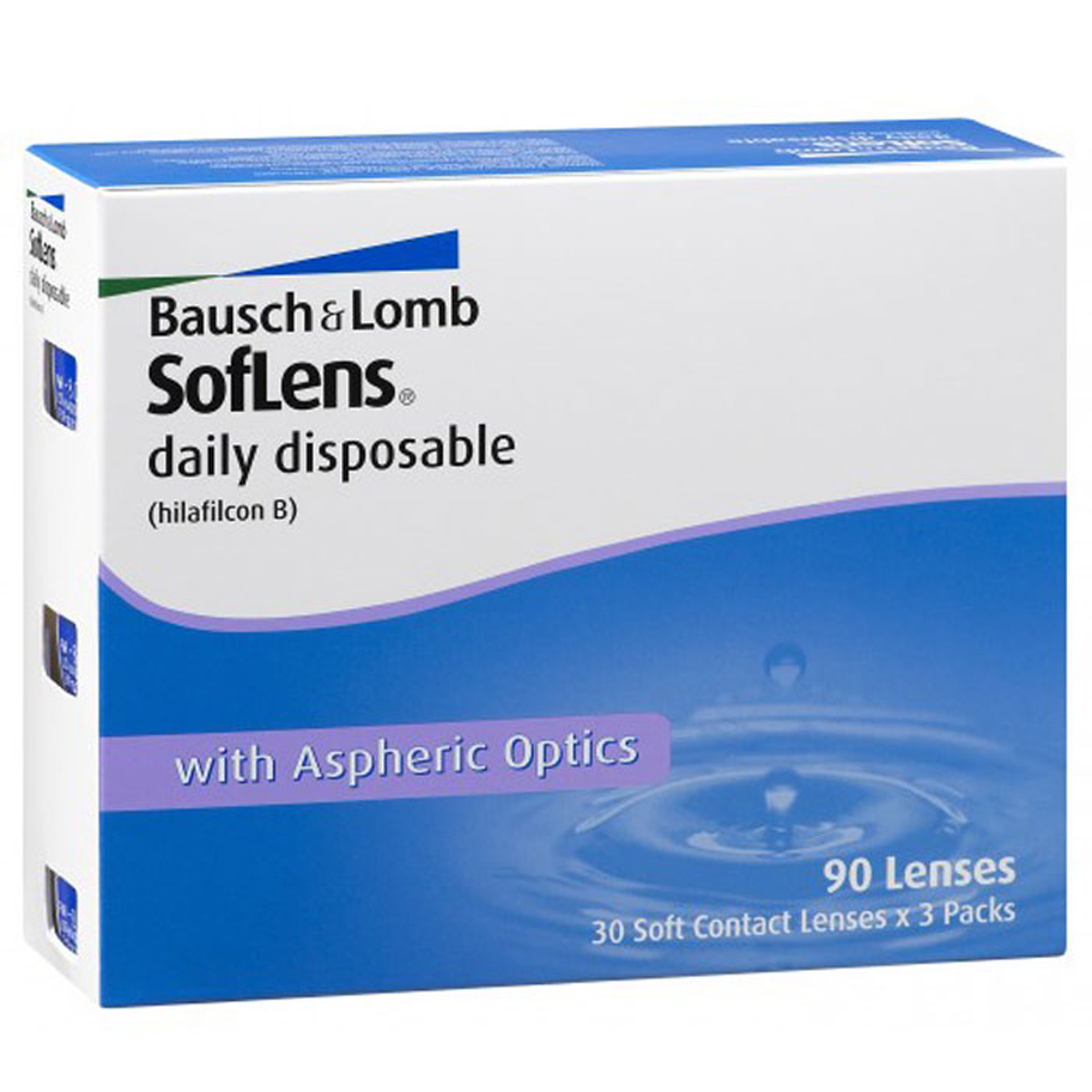 Bausch + Lomb контактные линзы Soflens Daily Disposable (90шт / 8.6 / -3.75) bausch lomb контактные линзы purevision 6шт 8 3 3 00