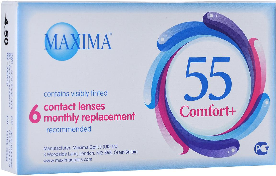 Maxima контактные линзы 55 Comfort Plus (6шт / 8.6 / -4.50)