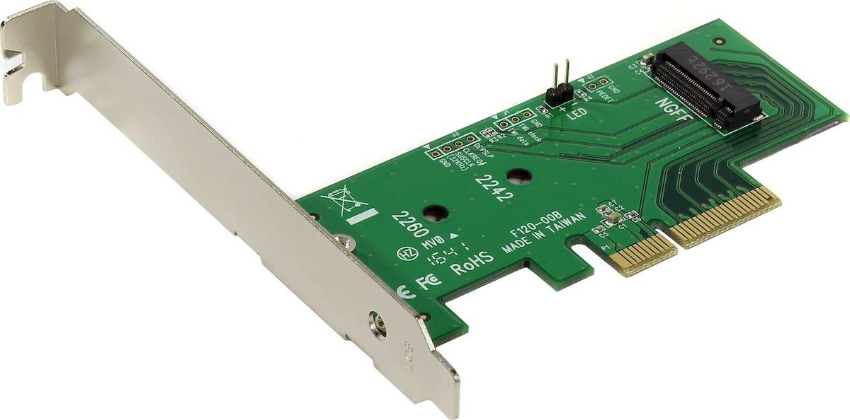 SmartBuy DT-120 переходник-конвертер для PCIe 3.0 x4 в PCIe M.2 NGFF jeyi sk7 m 2 nvme ssd ngff to pcie x4 adapter m key b key dual interface card suppor pci express 3 0 x4 2230 22110 all size m 2