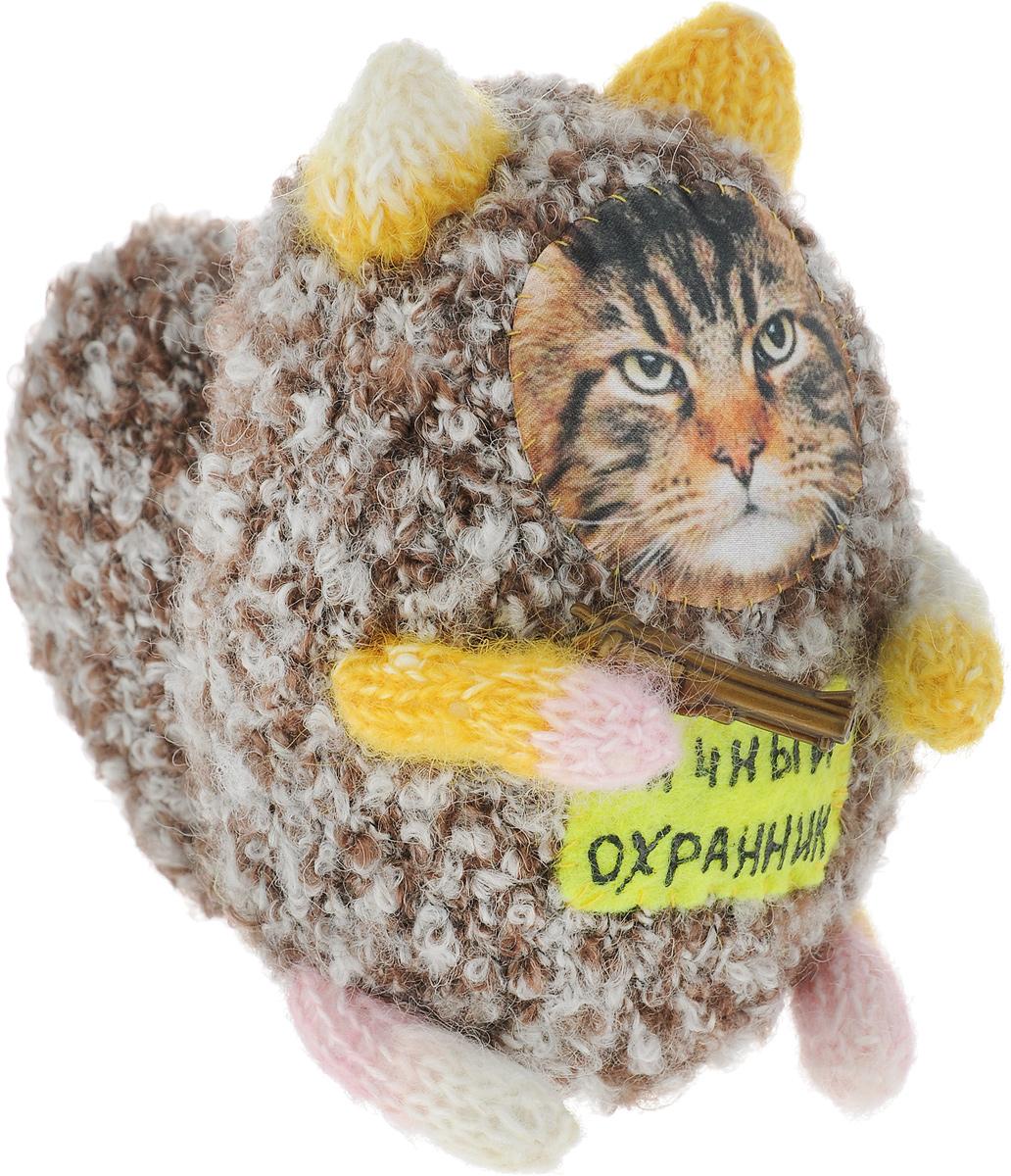 Мягкая игрушка Бюро находок Котик. Личный охранник, цвет: коричневый мягкая игрушка бюро находок котик с деньгами ж цвет темно красный