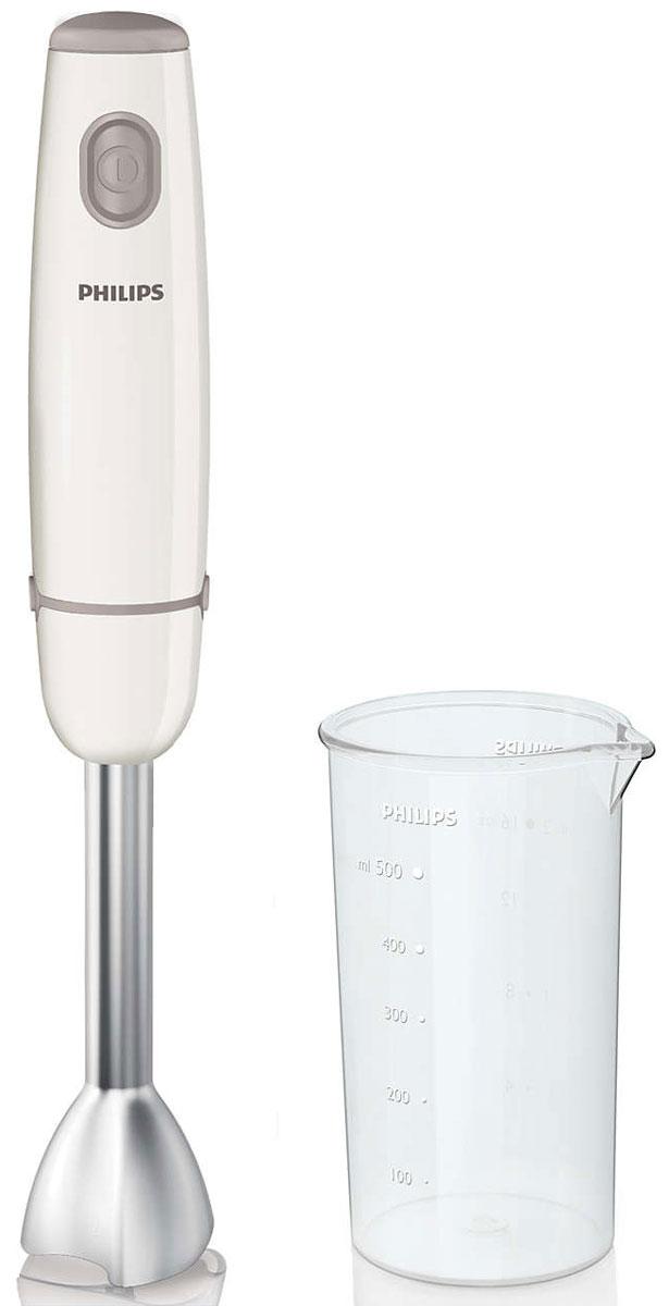 Philips HR1604/00 блендерHR1604/00Ручной блендер из коллекции Philips Daily сочетает в себе мощность 550 Вт и насадку блендера уникальногодизайна. Он обеспечивает идеальную консистенцию при приготовлении супов, пюре и коктейлей. Готовитьполезные блюда теперь так просто!Треугольная форма насадки для оптимальной плавности и однородности смешиванияТехнология ProMix ручного блендера Philips была разработана в сотрудничестве со специалистами престижногоШтутгартского университета. Усовершенствованная технология обеспечивает большую однородность и скоростьсмешивания. Уникальная технология ProMix - это треугольная форма насадки, которая гарантирует идеальнуюконсистенцию супов и смузи.