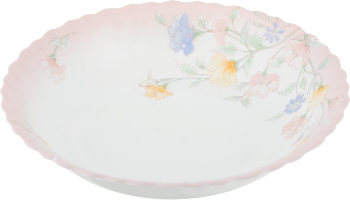 """Салатник Luminarc """"Elise"""", изготовленный из  высококачественного стекла, прекрасно впишется в интерьер  вашей кухни и станет достойным дополнением к кухонному  инвентарю. Салатник оформлен нежным рисунком.  Такой салатник не только украсит ваш кухонный стол и  подчеркнет прекрасный вкус хозяйки, но и станет отличным  подарком.   Можно мыть в посудомоечной машине и использовать в  микроволновой печи.   Диаметр салатника (по верхнему краю): 18 см.  Высота стенки: 3,5 см."""