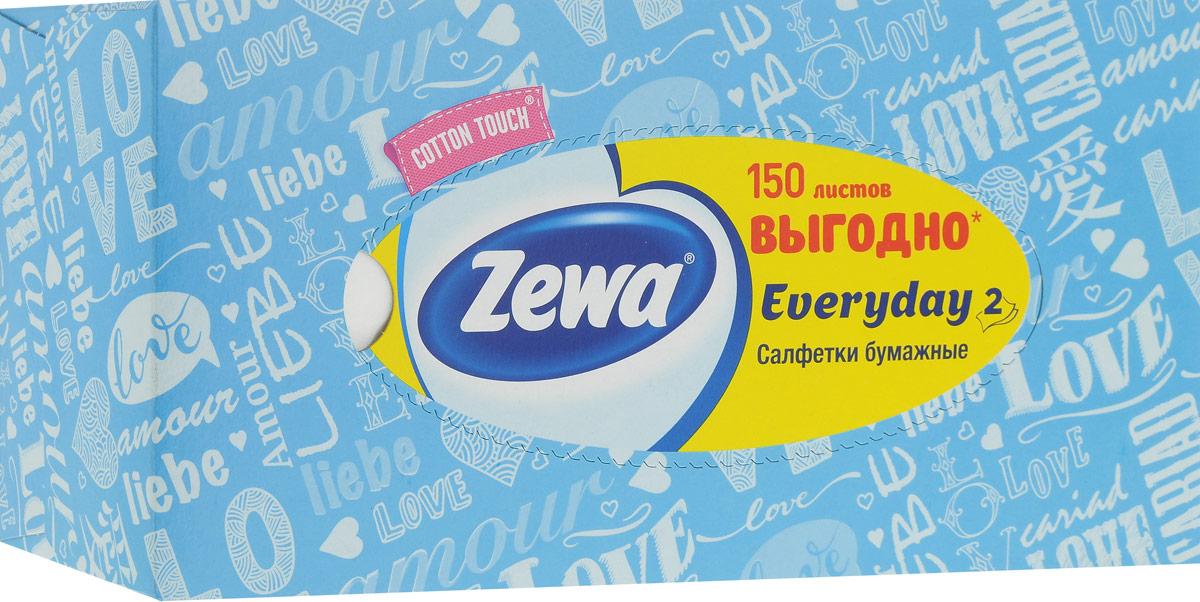 Салфетки косметические Zewa Everyday, цвет: голубой, 2 слоя, 150 штУТ000055770_голубойБумажные салфетки Zewa Cotton Touch произведены с добавлением натуральных волокон хлопка и одновременно сочетают в себе мягкость и прочность. Они деликатно и нежно заботятся о вашей коже и дарят незабываемые ощущения прикосновения хлопка. Бумажные салфетки Zewa Cotton Touch - незаменимые помощники дома, а их яркий и стильный дизайн дополнит любой интерьер. Их можно использовать: 1) для косметических целей, чтобы поправить макияж, убрать излишки крема, промокнуть лицо после умывания и т.п. 2) во время еды, чтобы вытереть руки и лицо. Белые 2-х слойные бумажные салфеткидля лица без аромата. Одобрены европейскими дерматологами.