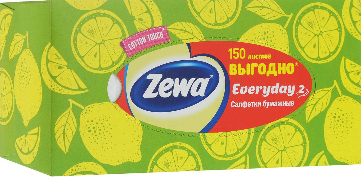 Салфетки косметические Zewa Everyday, цвет: зеленый, 2 слоя, 150 штУТ000055770_зеленый, лимонБумажные салфетки Zewa Cotton Touch произведены с добавлением натуральных волокон хлопка и одновременно сочетают в себе мягкость и прочность. Они деликатно и нежно заботятся о вашей коже и дарят незабываемые ощущения прикосновения хлопка. Бумажные салфетки Zewa Cotton Touch - незаменимые помощники дома, а их яркий и стильный дизайн дополнит любой интерьер. Их можно использовать: 1) для косметических целей, чтобы поправить макияж, убрать излишки крема, промокнуть лицо после умывания и т.п. 2) во время еды, чтобы вытереть руки и лицо. Белые 2-х слойные салфетки бумажные для лица без аромата. Одобрены европейскими дерматологами.