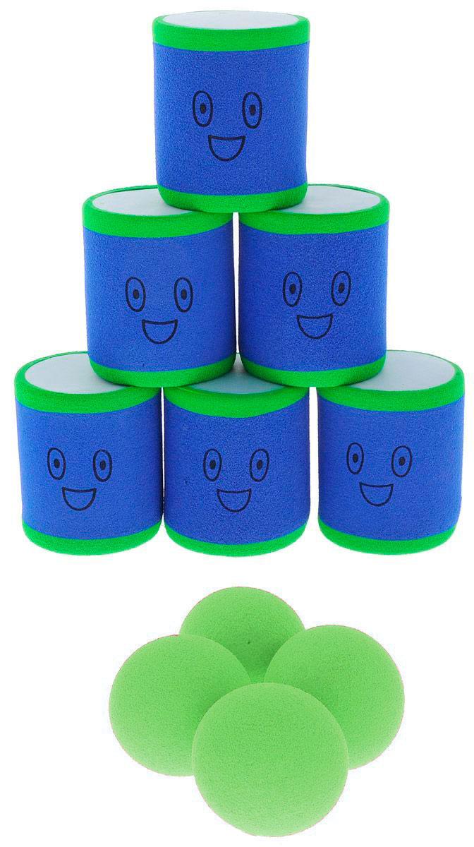 Safsof Игровой набор Городки цвет синий зеленый magellan игровой набор городки люкс