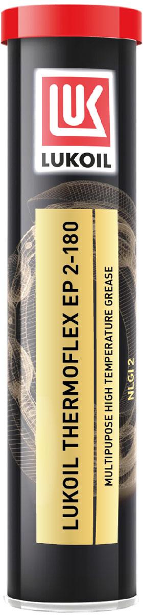 Смазка ЛУКОЙЛ ТЕРМОФЛЕКС ЕР 2-1801454963Смазка ЛУКОЙЛ ТЕРМОФЛЕКС ЕР 2-180 – многоцелевая высокотемпературная смазка, изготовленная на основе комплексного литиевого мыла, смеси глубокоочищенных минеральных масел с низкой испаряемостью, хорошей окислительной стабильностью и комплекса высокоэффективных присадок, улучшающих эксплуатационные свойства.Смазка ЛУКОЙЛ ТЕРМОФЛЕКС ЕР 2-180 обладает отличными трибологическими характеристиками, способна работать при больших механических нагрузках и частом контакте с водой. Рабочий диапазон температур от -30 до 160°С .Смазка ЛУКОЙЛ ТЕРМОФЛЕКС ЕР 2-180 синего цвета, обладает умеренно мягкой консистенцией и гомогенной структурой.Применяется в узлах: подшипники качения, работающие длительное время в условиях высоких скоростей и больших нагрузок, сильных вибраций и высоких температур, подшипники скольжения, направляющие,втулки, шарниры, узлы, где требуется уплотняющий эффект смазки для препятствования попадания грязи, пыли и воды. Отличные высокотемпературные свойстваОтличное восприятие нагрузки при низких температурахВысокая водостойкостьОтличная адгезияДлительный срок эксплуатацииОчень хорошие антикоррозионные свойстваСтойкость к ударным и вибрационным нагрузкам
