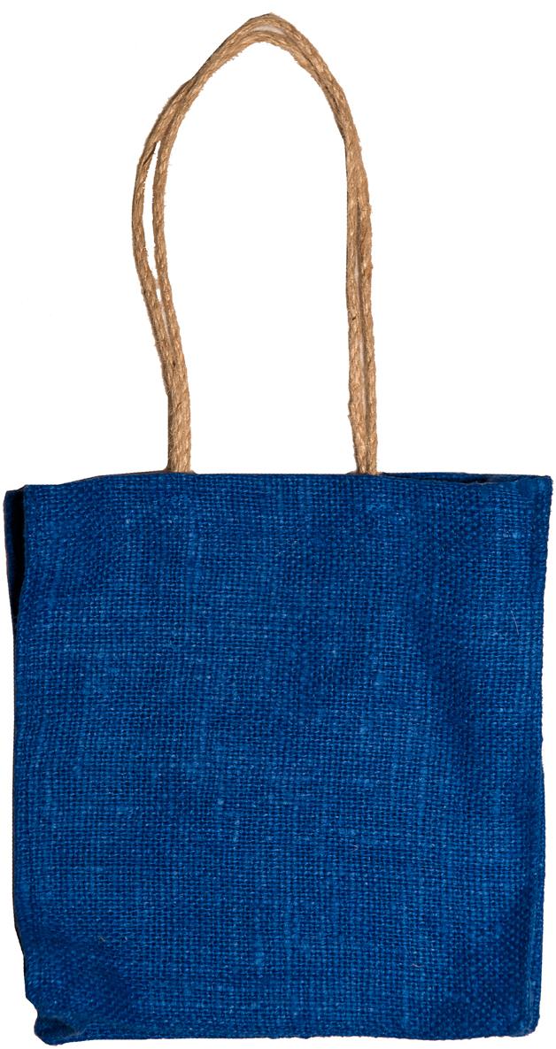 Сумка хозяйственная Подарок, цвет: голубой, 1 л4синЭксклюзивная упаковка для дорогих и близких. Сумочка выполнена из 100% льна. Текстура плетения ткани - мешковина. Подарок в такой упаковке выделит Вас из миллионов! Эко сумка - это практично, удобно, выгодно.