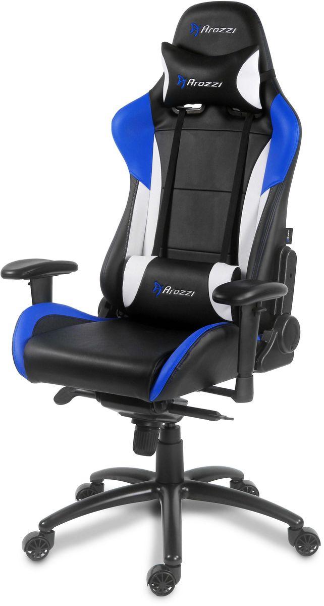 Arozzi Verona Pro V2, Blue игровое креслоVERONA-PRO-V2-BLКомпьютерное кресло Arozzi Verona Pro V2 переносит вас на следующий этап в комфортном использованиеэргономичной мебели. Шведские дизайнеры интегрировали в это кресло самые популярные функции изразличных производственных линеек игровой мебели, которые помогают почувствовать контроль за ситуации вполном комфорте при любых обстоятельствах. Мягкое покрытие кресла по верх облегченного металлическогокаркаса придаёт ощущение роскоши, сохраняя при этом лёгкое перемещение на игровом или рабочем месте.Verona Pro V2 включает в себя такие эргономичные функции, как дополнительные мягкие сиденья, регулируемыеподлокотники, регулируемая дополнительная спинка и подставка для головы, а так же прочная обивка которуюлегко будет чистить. Кресло Verona Pro V2 представлено в различных цветовых решениях которые уже давно оценены геймерами ипользователями всего мира. Когда придёт время выиграть, Verona Pro V2 пройдёт весь путь с вами и поможетдобиться лучших результатов.Металлический каркас Эргономичный дизайн 5 нейлоновых колёс обеспечивающие максимальную устойчивость Толстая обивка на спинке, сиденье и подлокотниках Легко отчищающийся материал Поворот на 360 градусов Регулируемая высота Наклон сиденья с функцией блокировки Регулируемая поясничная подушка Регулируемые подлокотники (по вращению и высоте) Облегченная конструкция для легкого передвижения