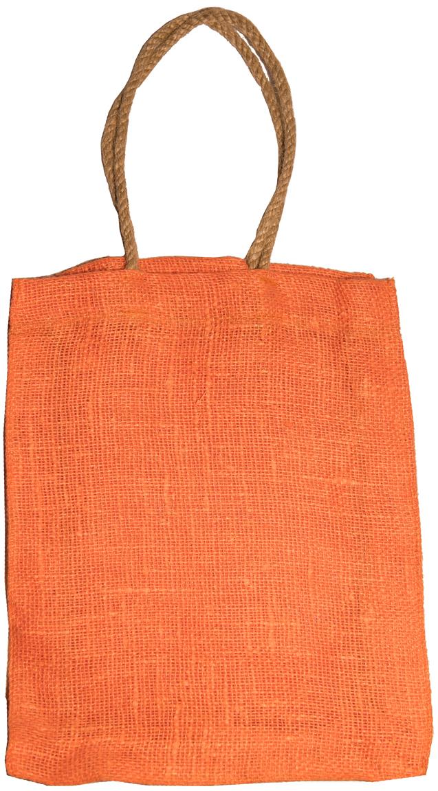 Сумка хозяйственная Подарок, цвет: оранжевый, 7 л2оранжЭксклюзивная упаковка для дорогих и близких. Сумочка выполнена из 100% льна. Текстура плетения ткани - мешковина.Подарок в такой упаковке выделит Вас из миллионов!Эко сумка - это практично, удобно, выгодно.