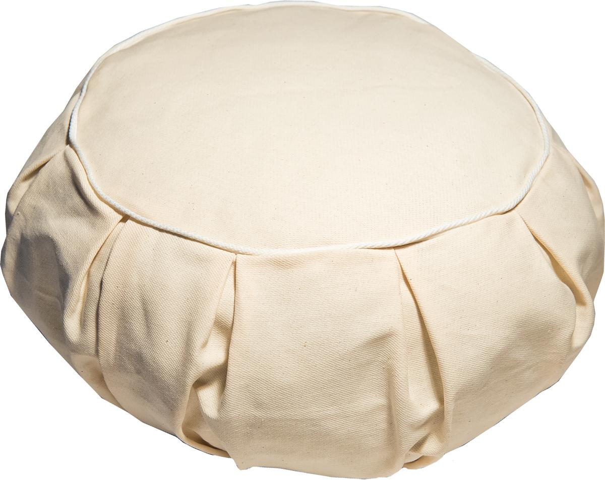 Подушка ортопедицеская Эко. Круг, цвет: бежевый, 35 х 20 см. 31беж био подушка из лузги гречихи тюльпанчик цвет салатовый 20 см х 30 см