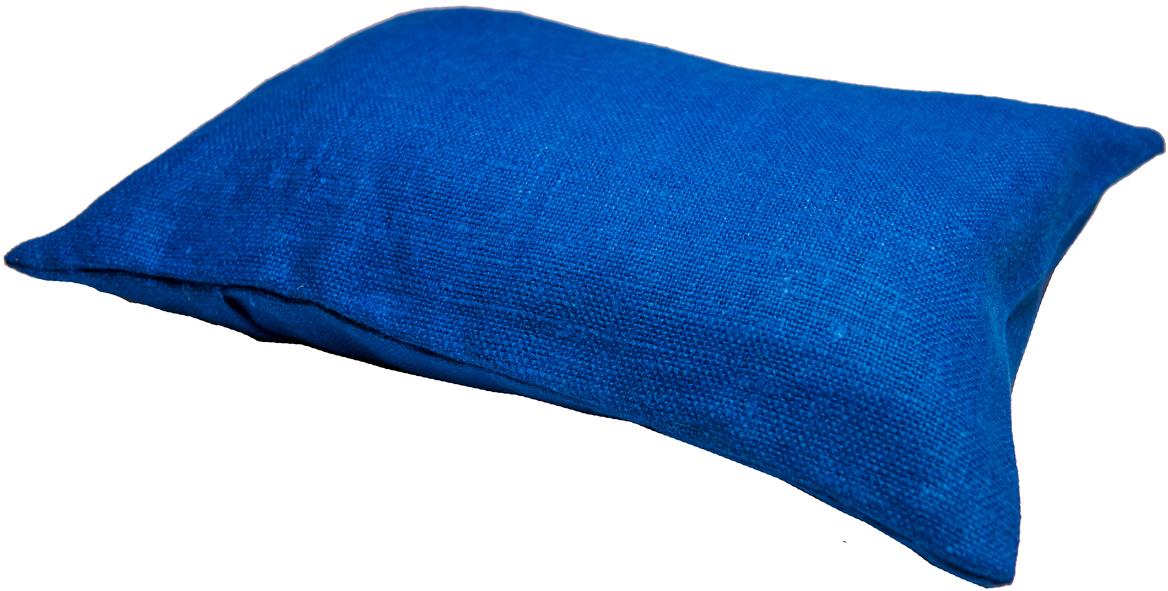 Подушка ортопедическая Эко. Классик, цвет: синий, 40 х 30 см8синПодушка очень удобна как для сна, поскольку имеет классическую форму, так и для выполнения сидячих поз йоги. Наволочка съемная, изготовлена из 100% льна.
