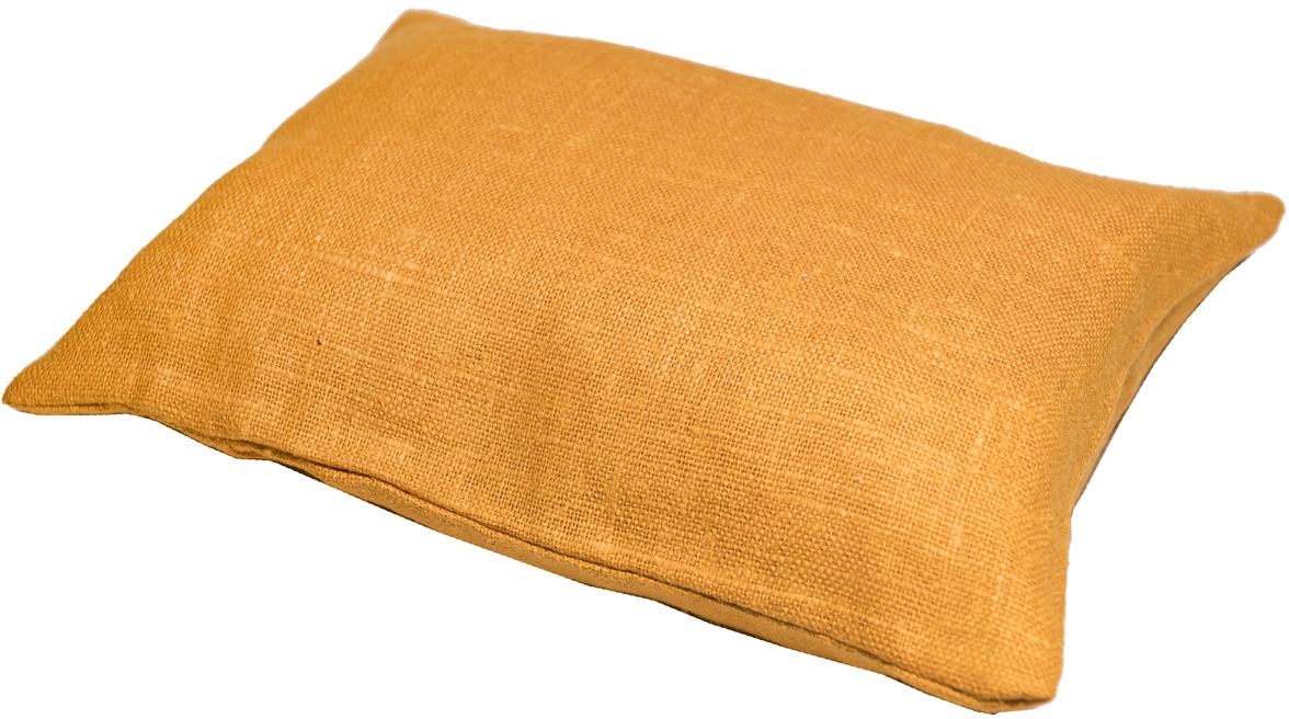 Подушка ортопедическая Эко. Классик, цвет: оранжевый, 40 х 30 см8оранжПодушка очень удобна как для сна, поскольку имеет классическую форму, так и для выполнения сидячих поз йоги. Наволочка съемная, изготовлена из 100% льна.