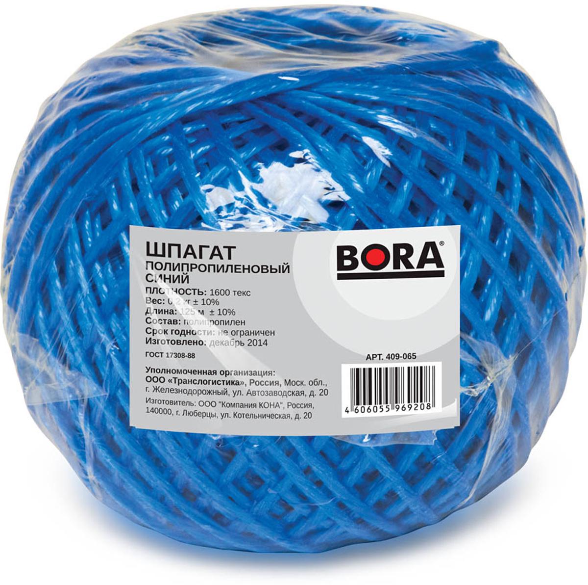 Шпагат Aviora, цвет: синий, 1600 текс, 125 м409-065Шпагат Aviora - это сверхпрочная полипропиленовая веревка общего назначения, которая отличаетсястойкостью к температурному воздействию, гниению и влаге. Отсутствие сердечника обеспечивает минимальноеотносительное удлинение под нагрузкой. Универсальный упаковочно-обвязочный материал.