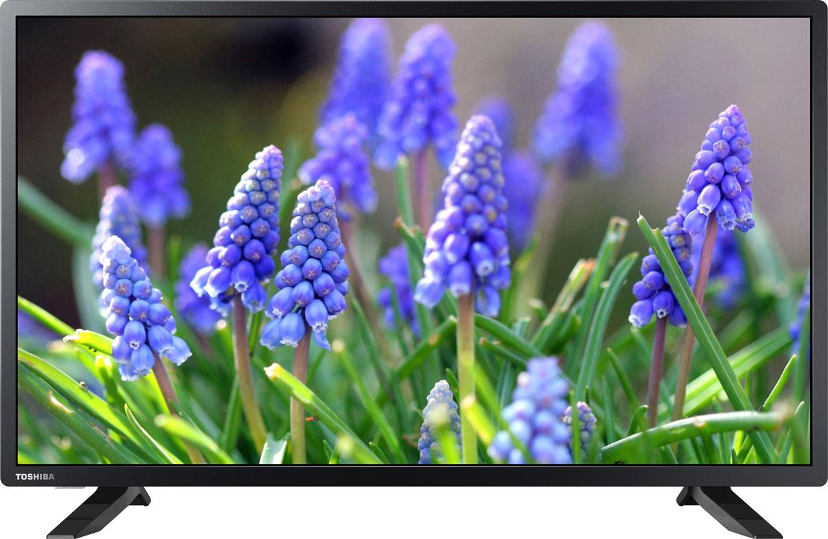 Toshiba 32S1750EV телевизор32S1750EVToshiba 32S1750EV - это многофункциональный телевизор, обладающий отличным качеством изображения. LED-подсветка обеспечивает четкость и яркость изображения, а экран обладает разрешением 1366x768пикселей, яркостью 250 кд/м2 и широким углом обзора (178°).Мощность звучания аудиосистемы составляет 12 Вт, также поддерживаются телевизионные стандарты DVB-T2/C. Телевизор оборудован USB-портом и HDMI-входами.