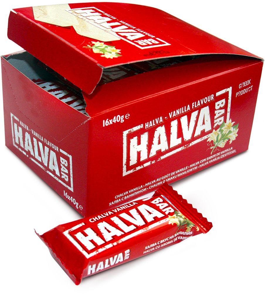Halva Bar Халва кунжутная батончик ванильный, 40 г pediasure смесь со вкусом ванили с 12 месяцев 200 мл