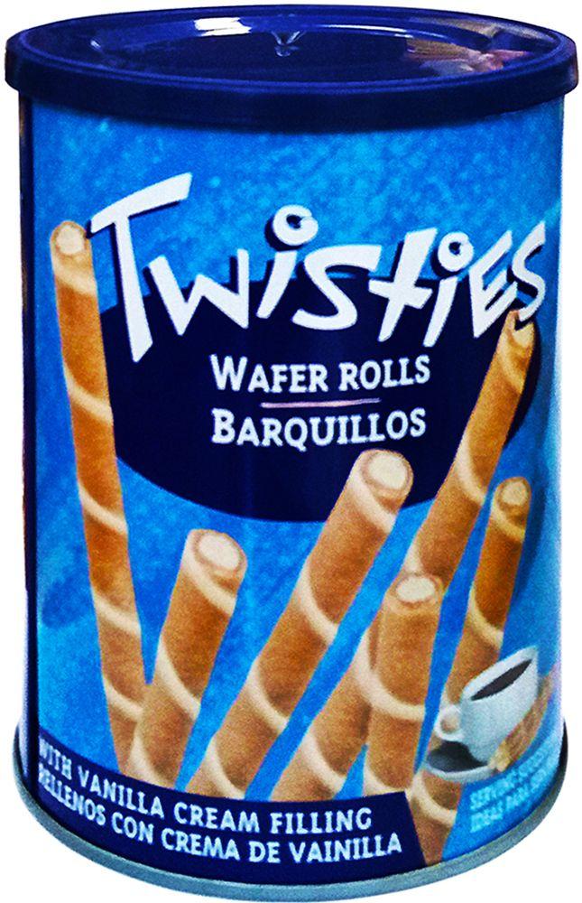 Twisties Вафельные трубочки с ванильным кремом, 400 г вафли обожайка вкус сливки 225 г