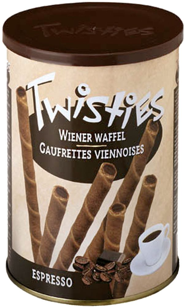 Twisties Вафельные трубочки с кофейным кремом эспрессо, 400 г конфэшн минутки вафли со вкусом сливок айриш крим 165 г