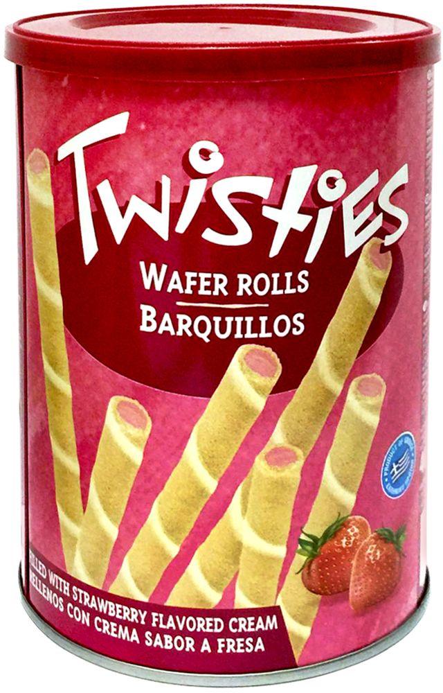 Twisties Вафельные трубочки с клубничным кремом, 400 г twisties вафельные трубочки с кофейным кремом эспрессо 400 г