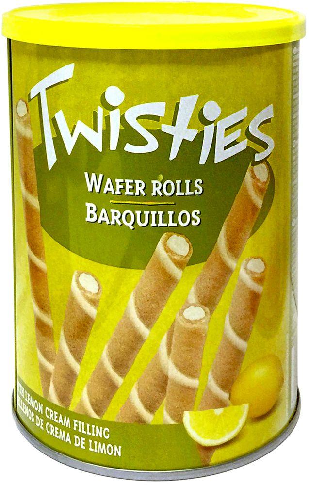 Twisties Вафельные трубочки с лимонным кремом, 400 г twisties вафельные трубочки с кофейным кремом эспрессо 400 г
