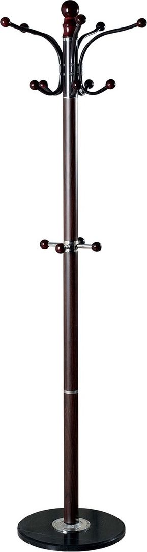 Вешалка-стойка Brabix CR-274, высота 1,8 м601744Напольная вешалка-стойка из металла и мрамора отлично впишется в интерьер любого офиса или дома. Девять крючков обеспечивают большую вместимость вешалки, а утяжеленное мраморное основание - отличную устойчивость даже при полной загрузке. Высота: 1,8 м. Утяжеленное основание: мраморный диск диаметром 38 см. Стойка: металлическая труба диаметром 5 см. 5 крючков для верхней одежды и головных уборов. 4 дополнительных крючка для зонтов и сумок. Максимальная нагрузка на крючок: 5 кг. Все крючки с хромированным покрытием.Поставляется в разобранном виде.