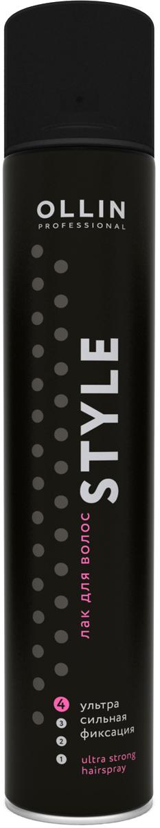 Ollin Professional Style Лак для волос ультрасильной фиксации, 500 мл393160Лак Ollin ультрасильной фиксации, отлично завершит и надолго зафиксирует укладку, сохраняя эластичность волос. Благодаря входящим в состав витаминам и растительным компонентам ухаживает, питает, увлажняет и придает волосам здоровый блеск. Лак Ollin не заметен на волосах, легко устраняется при помощи расчески, не оставляя следов. Благодаря компактному флакону удобно брать с собой.Объем: 500 мл.