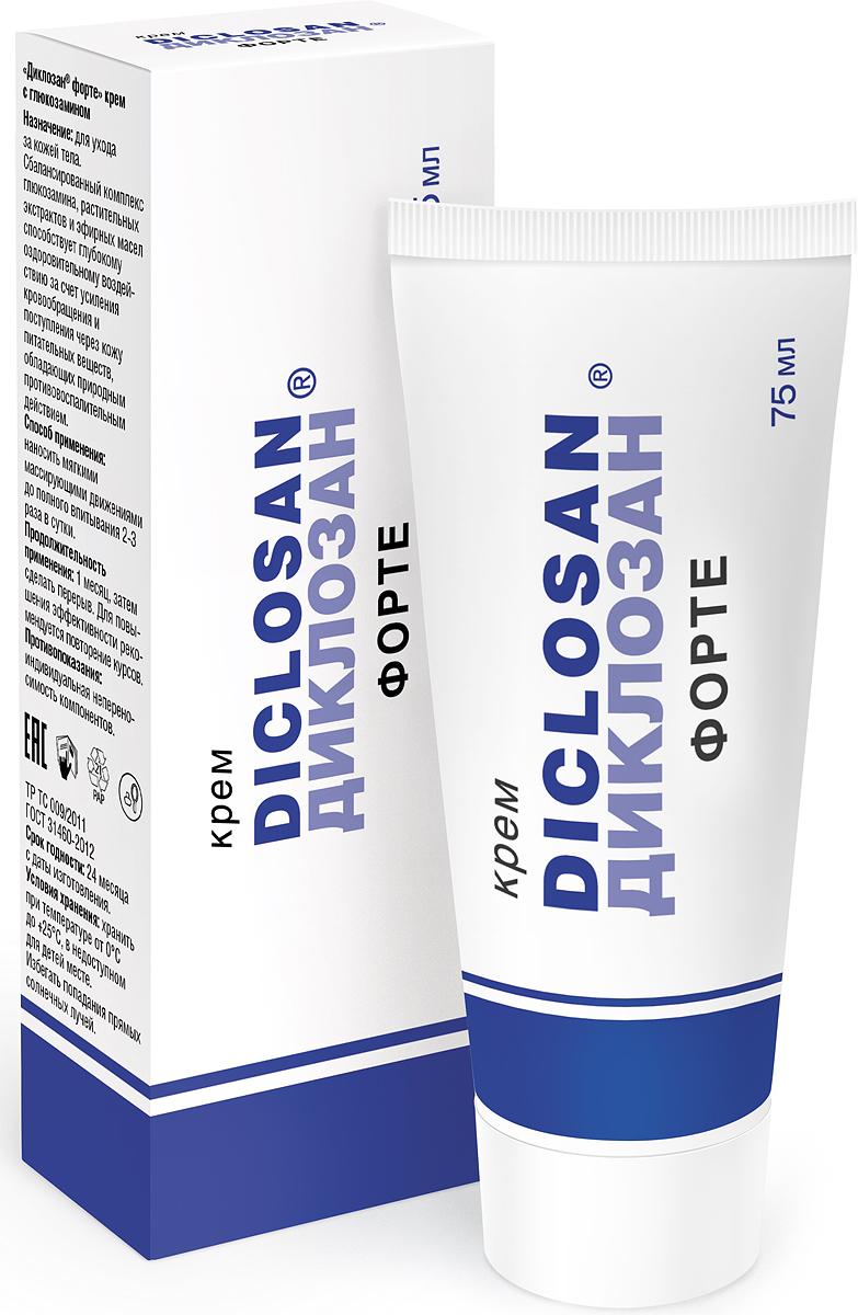 Диклозан форте крем с глюкозамином при отложении солей, 75 мл