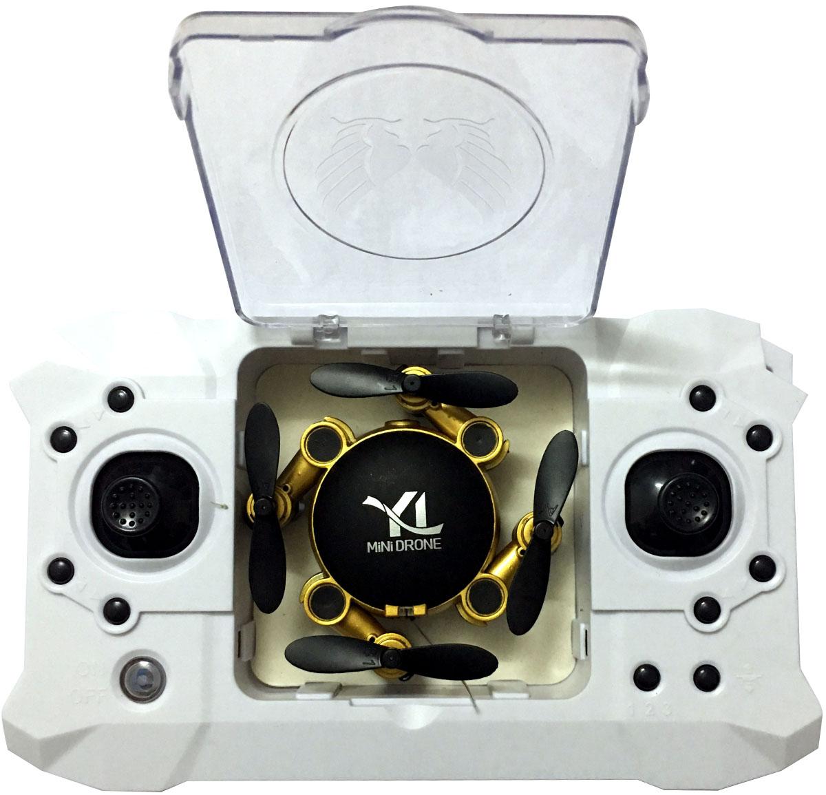 Yile Селфи-коптер на радиоуправлении S18 с камерой 0,5 МР цвет золотой