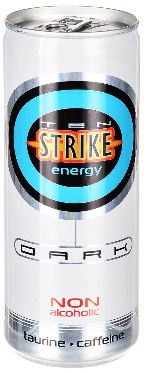 Ten Strike Dark Энергетические напиток со вкусом Малины и Зеленого чая, 250 мл чехол для ноутбука 14 printio изгой один звёздные войны