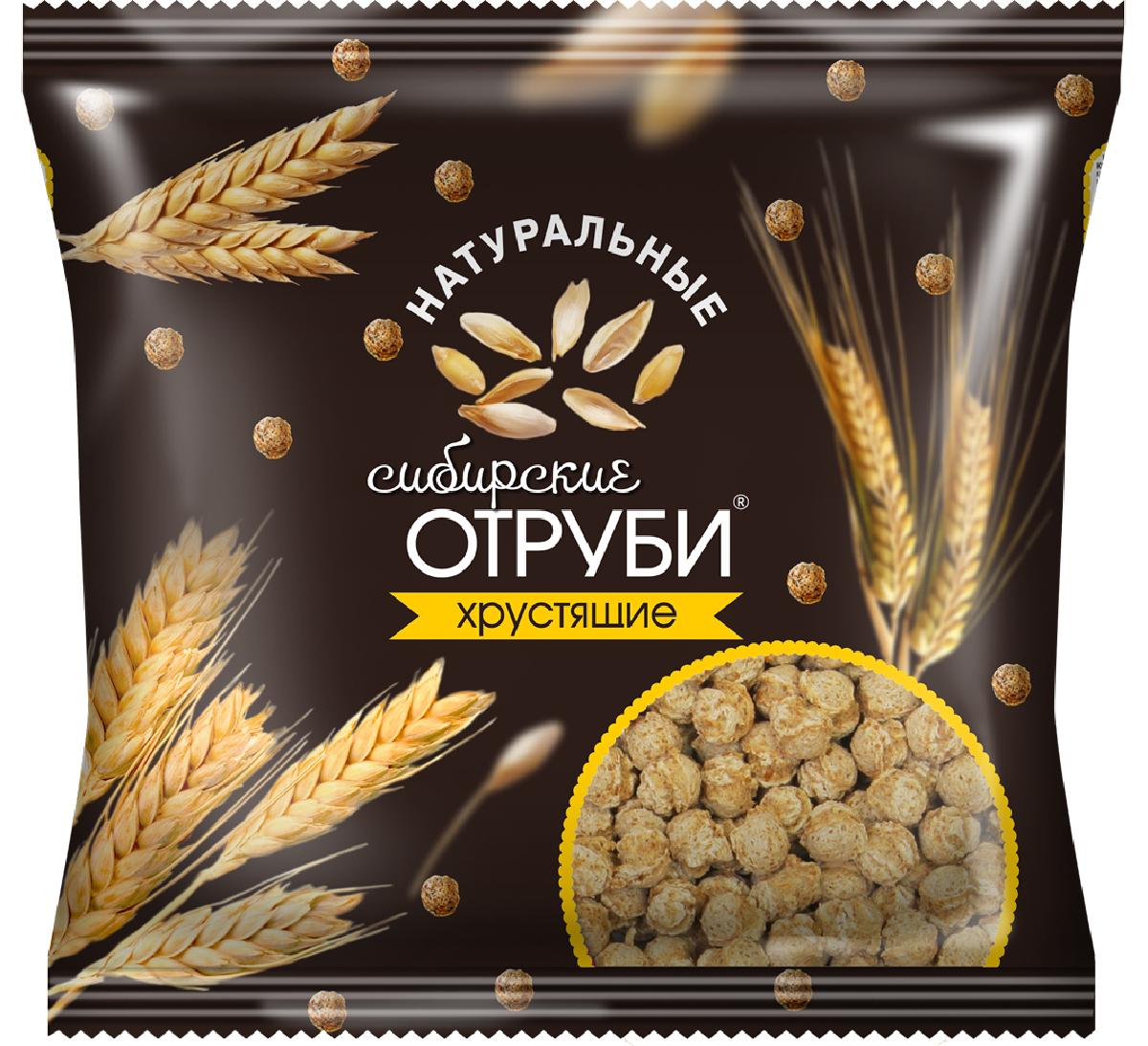 Сибирские Отруби хрустящие натуральные, 100 г сибирские отруби хрустящие сила ягод 100 г