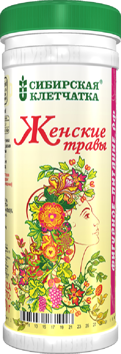 Сибирская Клетчатка женские травы, 170 г сибирская клетчатка mу body slim фитококтейль имбирь и корица 170 г