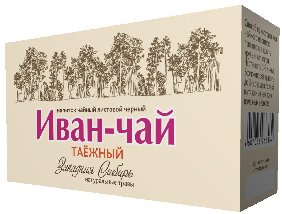 Черникоff напиток чайный Иван-чай листовой черный таежный в пакетиках, 20 шт чайный чай ebony