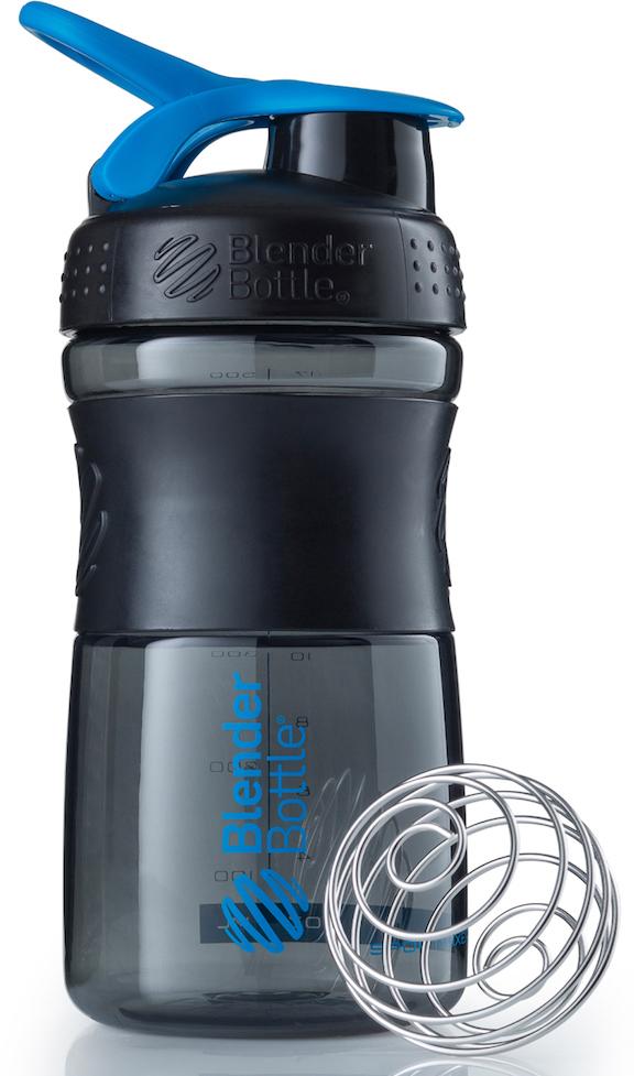 Шейкер спортивный BlenderBottle SportMixer, цвет: черный, голубой, 591 млBB-SM20-BTEAСтиль, инновации и универсальность в равной мере. BlenderBottle SportMixer принял вызов вашей активной, деловой и спортивной жизни. Новое понимание, что значит быть современной бутылкой для воды. Идеален для: - Воды - Смешивания любых напитков - Электролитов - Энергетических напитков - Заменителей пищи - Пищевых добавок - Протеиновые смеси - Смузи и шейки - Смеси с клетчаткой и многое другое.Прочный. Не впитывает запахи. Безопасный. SportMixer остается прочным и прозрачным в течение всего срока эксплуатации. Он изготовлен из безопасного пластика с закрытыми порами, Eastman Tritan, который не содержит бисфенолы (BPA, BPS и другие) и фталаты. Материал не выделяет вредных веществ и не впитывает запахи, а значит вы сможете в полной мере насладиться вкусом вашего напитка не переживая за свое здоровье и здоровье ваших близких!Закройте, подвесьте на сумке и носите с собой. Удобное кольцо на крышке позволяет легко крепить SportMixer к сумке или рюкзаку и взять его собой в тренажерный зал или в офис. Кольцо SportLoop разработано таким образом, что при любом весе бутылки и нагрузке крышка останется закрытой.Не выскользнет из рук. Ребра на крышке и объемное изображение на резиновом SportGrip обеспечивает крепкое сцепление даже со влажной ладонью, трясете ли вы питательный или протеиновый коктейль, или держите его в руке во время утренней пробежки.Смешивай! Что-то больше, чем просто вода? Запатентованный шарик-венчик BlenderBall смешивает энергетические напитки и электролиты, протеиновые коктейли и многое другое, легко! Шарик BlenderBall разворачивается внутри бутылки, смешивая ваши напитки до однородной консистенции, каждый раз, сотни раз. Изготовлен из 316-хирургической нержавеющей стали, что позволяет не вынимать BlenderBall из бутылки с вашим напитком: он не ржавеет и не подтвержден коррозии.Как повысить эффективность тренировок с помощью спортивного питания? Статья OZON Гид