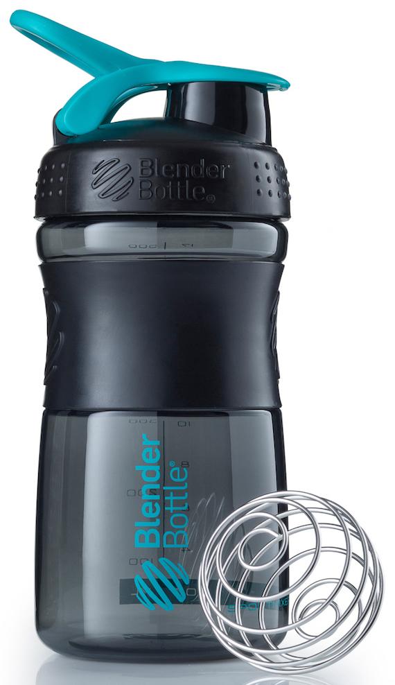 Шейкер спортивный BlenderBottle SportMixer, цвет: черный, бирюзовый, 591 млBB-SM20-BCYAСтиль, инновации и универсальность в равной мере. BlenderBottle SportMixer принял вызов вашей активной, деловой и спортивной жизни. Новое понимание, что значит быть современной бутылкой для воды.Идеален для:- Воды- Смешивания любых напитков- Электролитов- Энергетических напитков- Заменителей пищи- Пищевых добавок- Протеиновые смеси- Смузи и шейки- Смеси с клетчаткой и многое другое.Прочный. Не впитывает запахи. Безопасный.SportMixer остается прочным и прозрачным в течение всего срока эксплуатации. Он изготовлен из безопасного пластика с закрытыми порами, Eastman Tritan, который не содержит бисфенолы (BPA, BPS и другие) и фталаты. Материал не выделяет вредных веществ и не впитывает запахи, а значит вы сможете в полной мере насладиться вкусом вашего напитка не переживая за свое здоровье и здоровье ваших близких!Закройте, подвесьте на сумке и носите с собой.Удобное кольцо на крышке позволяет легко крепить SportMixer к сумке или рюкзаку и взять его собой в тренажерный зал или в офис. Кольцо SportLoop разработано таким образом, что при любом весе бутылки и нагрузке крышка останется закрытой.Не выскользнет из рук.Ребра на крышке и объемное изображение на резиновом SportGrip обеспечивает крепкое сцепление даже со влажной ладонью, трясете ли вы питательный или протеиновый коктейль, или держите его в руке во время утренней пробежки.Смешивай!Что-то больше, чем просто вода? Запатентованный шарик-венчик BlenderBall смешивает энергетические напитки и электролиты, протеиновые коктейли и многое другое, легко! Шарик BlenderBall разворачивается внутри бутылки, смешивая ваши напитки до однородной консистенции, каждый раз, сотни раз. Изготовлен из 316-хирургической нержавеющей стали, что позволяет не вынимать BlenderBall из бутылки с вашим напитком: он не ржавеет и не подтвержден коррозии.Как повысить эффективность тренировок с помощью спортивного питания? Статья OZON Гид