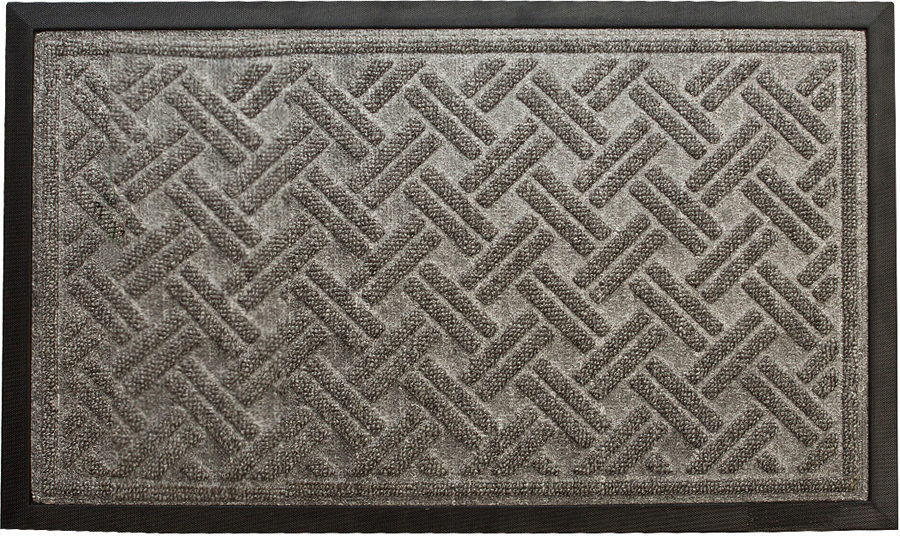 Коврик придверный Paterra Премиум, цвет: серый, 45 х 75 см408-040Придверный коврик премиум Paterra - отличная защита вашего дома от грязи, а так же прекрасное украшение интерьера. Верхняя часть коврика выполнена из полипропилена. Благодаря премиальному верхнему покрытию, коврик легко чистится и долго служит.